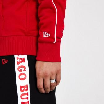 New Era Stripe Piping Chicago Bulls Zip-Up Hoodie ''Red''