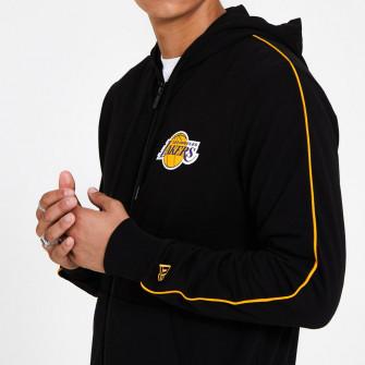 New Era Stripe Piping Los Angeles Lakers Zip-Up Hoodie ''Black''